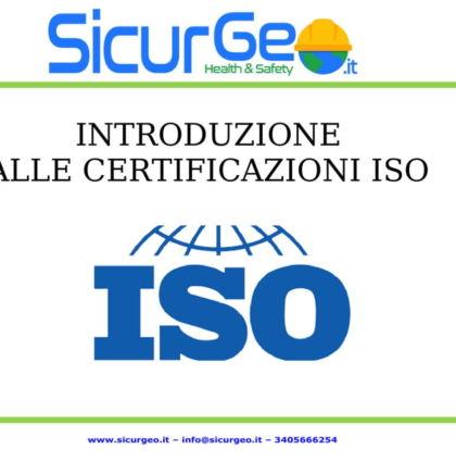 Introduzione alle certificazioni ISO…