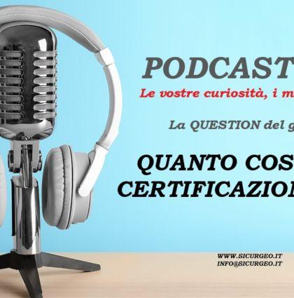 Podcast ISO 1 – Il Costo delle certificazioni ISO – UNI EN ISO 9001:2015